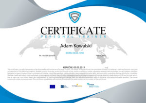 certyfikat trenera personalnego