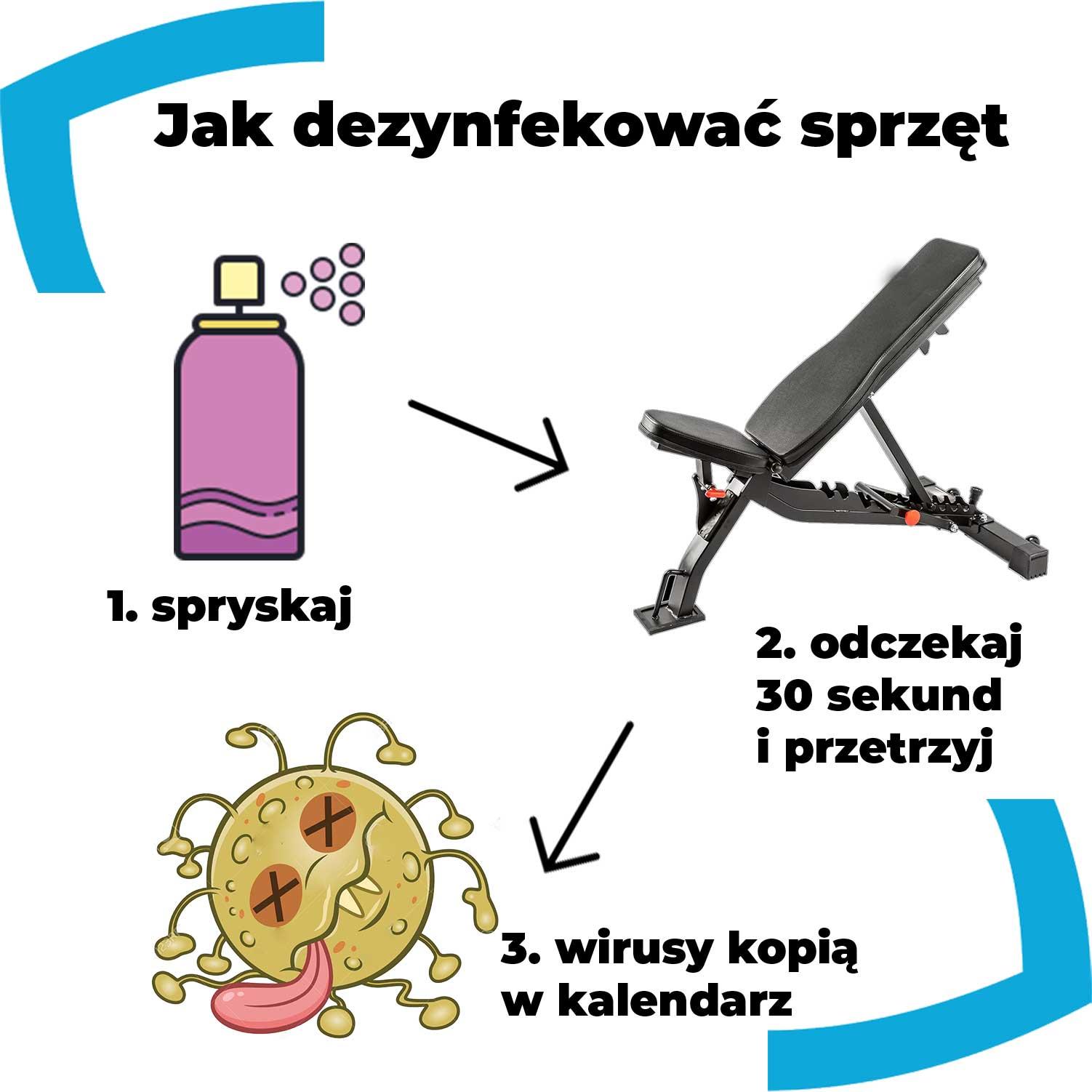 dezynfekcja ławeczki